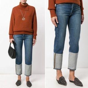 New FRAME Le Original Reverse Ankle Crop Jeans